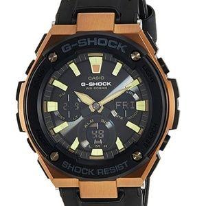 Casio Men's G Shock GSTS120L-1A Black Leather